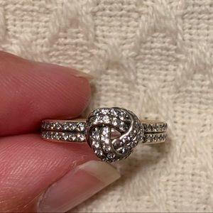 Pandora Jewelry - Authentic Pandora Sparkling Love Knot Ring